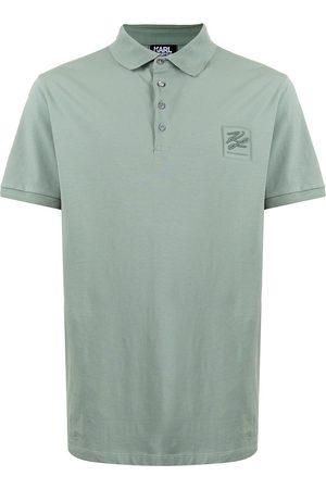 Karl Lagerfeld Men Polo Shirts - Logo-patch polo shirt