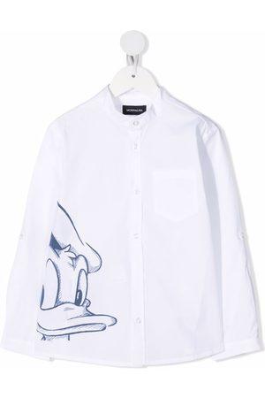 MONNALISA Donald Duck-print cotton shirt