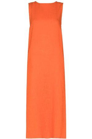 Missing You Already Women Midi Dresses - Sleeveless shift midi dress
