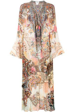 Camilla Carnaby Disco high-low hem dress - Multicolour