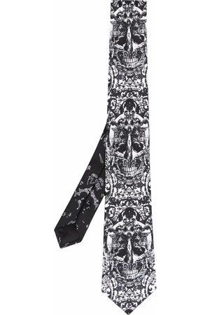 Philipp Plein Men Bow Ties - Baroque-pattern print silk tie