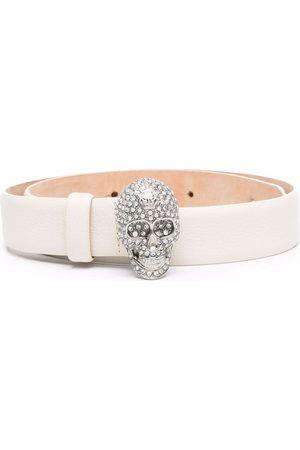 Philipp Plein Women Belts - Iconic Plein skull-embellished belt - Neutrals