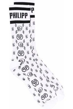 Philipp Plein Socks - Monogram-pattern socks