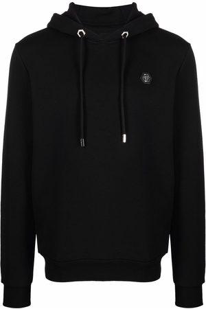 Philipp Plein Men Hoodies - Hexagon logo-plaque hoodie
