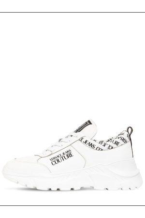 VERSACE Speedtrack Mesh & Leather Sneakers