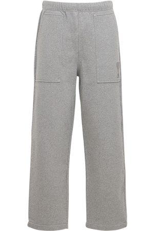 Ami Men Sweatpants - Logo Embro Cotton Jersey Sweatpants