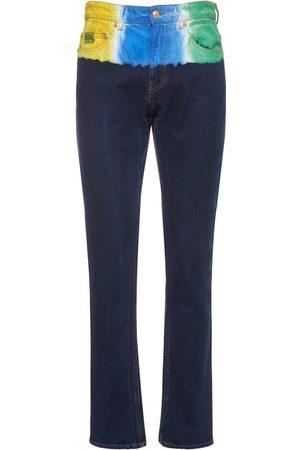 VERSACE Tie Dye Cotton Denim Jeans