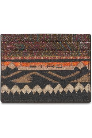 Etro Paisley Print Coated Card Holder
