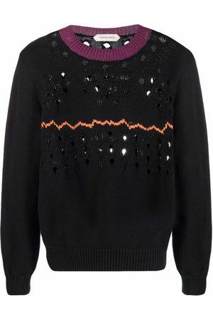 Namacheko Men Sweatshirts - Distressed-effect cotton jumper