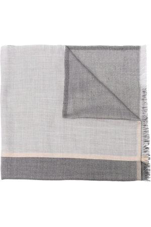 Brunello Cucinelli Frayed-edge rectangle-shape scarf - Grey