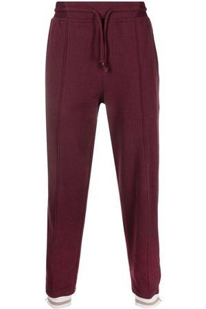 Brunello Cucinelli Men Sweatpants - Drawstring-waist cotton track trousers