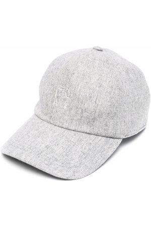Brunello Cucinelli Men Caps - Embroidered-logo cap - Grey
