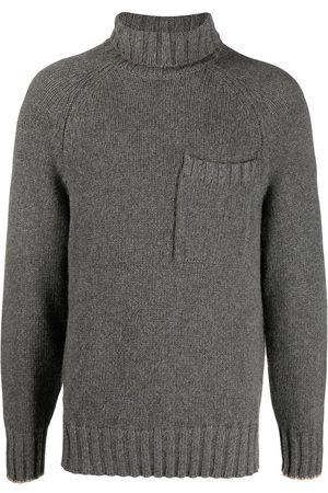 Brunello Cucinelli Roll-neck knitted jumper - Grey
