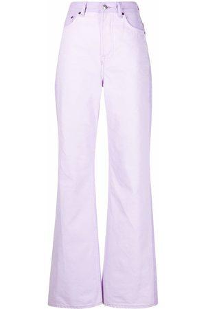 Acne Studios Women Bootcut - High-waisted bootcut jeans