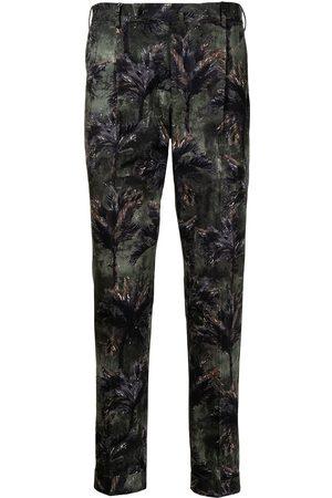 PT01 Men Formal Pants - Tropical Forest print trousers