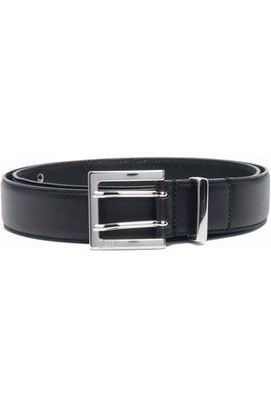 Diesel Eyelet-detail padded leather belt