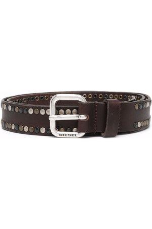 Diesel Men Belts - Studded buckle belt