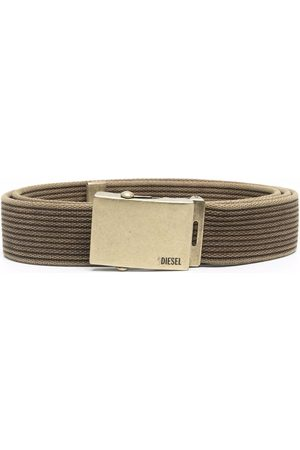Diesel Men Belts - Aged Metal canvas belt