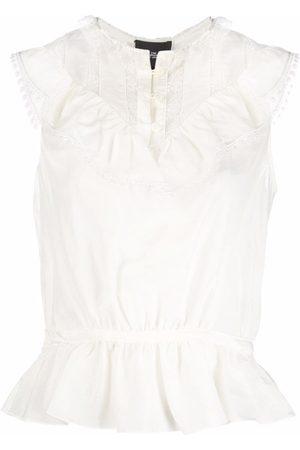 Marc Jacobs Women Tank Tops - Ruffle-detail vest