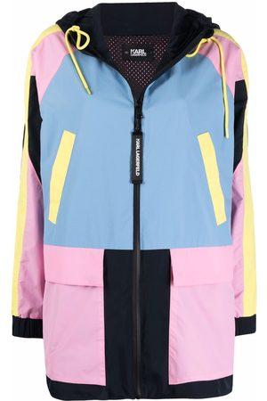 Karl Lagerfeld Colour-block hooded parka
