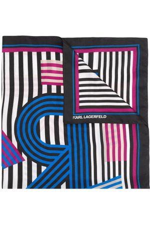 Karl Lagerfeld Karl Letter Washed silk scarf