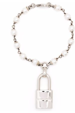 Dsquared2 Women Bracelets - Pearl padlock bracelet