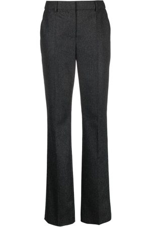 Moschino Flannel straight-leg trousers - Grey