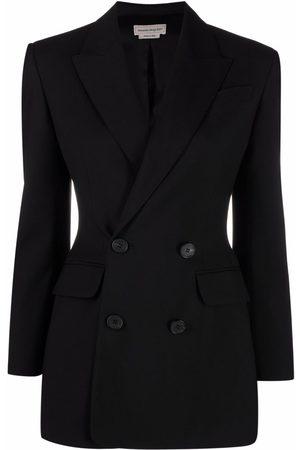 Alexander McQueen Women Blazers - Double-breasted wool blazer