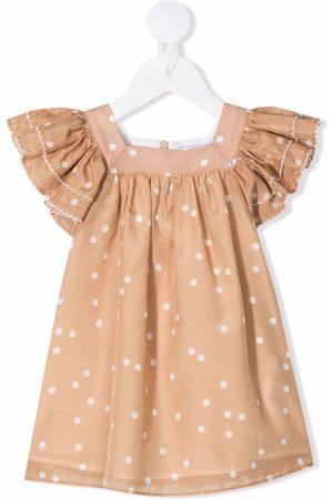 Tartine Et Chocolat Short-sleeved polka dot dress - Neutrals