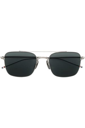 Thom Browne Eyewear TB120 aviator-frame sunglasses