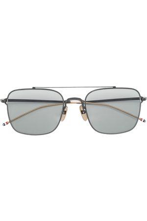 Thom Browne Eyewear TB120 aviator-frame sunglasses - Grey