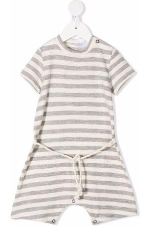 OPILILAI Striped cotton romper - Grey