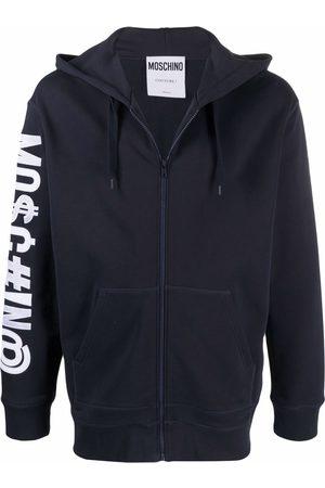 Moschino Symbols logo-print zipped hoodie