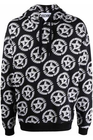 Moschino Men Hoodies - All-over logo-print hoodie