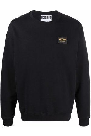 Moschino Men Long sleeves - Logo-plaque long-sleeve sweatshirt