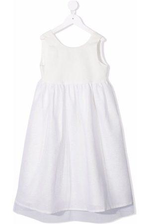 OPILILAI Flared linen-blend dress