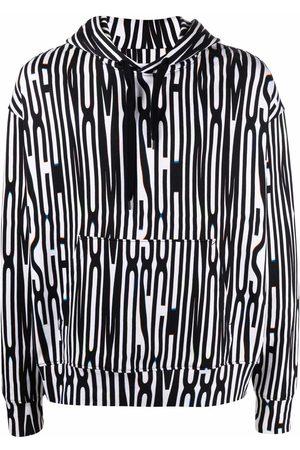 Moschino Men Hoodies - Warped logo-print fleece hoodie