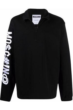 Moschino Symbols logo-embroidered sweatshirt