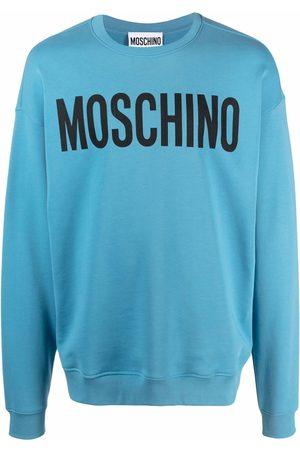 Moschino Men Sweatshirts - Logo-print drop-shoulder sweatshirt