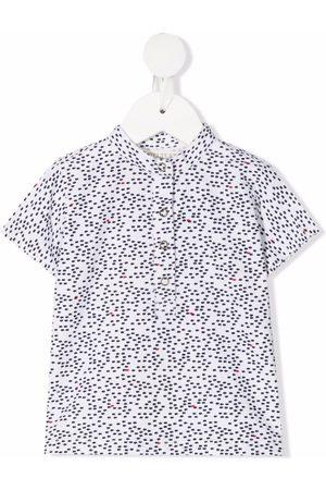 OPILILAI Shirts - Fish-print cotton shirt