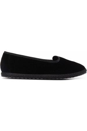 VIBI VENEZIA Grosgrain-trimmed velvet loafers