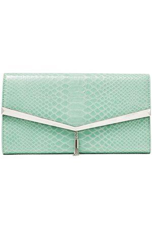 Jimmy Choo Elish leather clutch bag