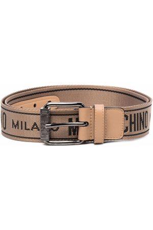 Moschino Logo-print belt - Neutrals