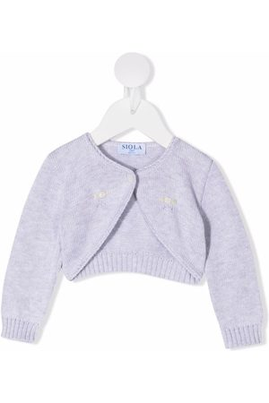 SIOLA Embroidered knitted cardigan - Grey