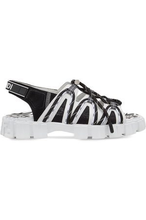 Fendi Logo strap chunky sole sandals