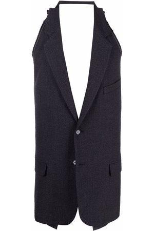 RAF SIMONS Men Waistcoats - Notched lapel backless waistcoat