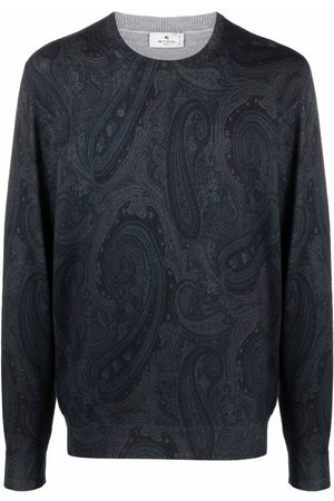 Etro Men Sweatshirts - Paisley-print jumper