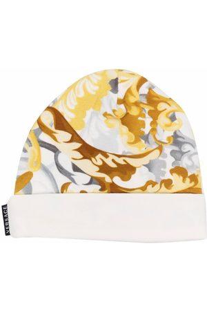 VERSACE Baroque print beanie hat