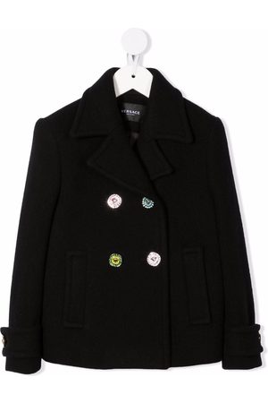 Versace Kids Double-breasted fitted coat