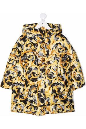 VERSACE Baroccoflage-print down jacket